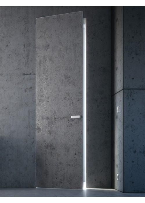 INVISIBLE REVERSE БЕТОН ПЛАТИНА (Система открывания) ProfilDoors